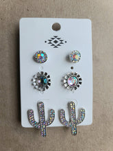 Load image into Gallery viewer, Cactus Jeweled Earring Set