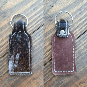 Cowhide Keychains