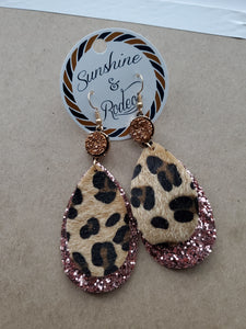 Glitter Leopard Earrings