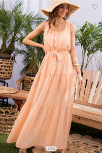Peach Polka Dot Dress