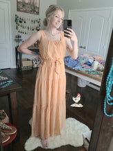 Load image into Gallery viewer, Peach Polka Dot Dress