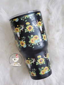 Sunflower/Skull 30oz Tumbler