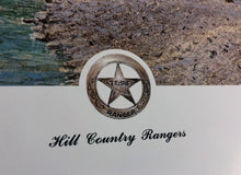 Load image into Gallery viewer, John Dearman - Hill Country Texas Rangers - Framed Lithograph - Size 25 x 31 - Very Rare