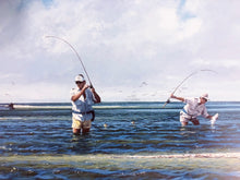 Load image into Gallery viewer, John Dearman - Magic Bar - Framed Lithograph - Print Size 25.5 x 31.5 - Frame Size 32.5 x 38 - Speckled Trout Fishing