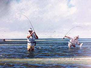 John Dearman - Magic Bar - Framed Lithograph - Print Size 25.5 x 31.5 - Frame Size 32.5 x 38 - Speckled Trout Fishing