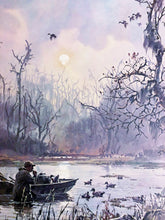 Load image into Gallery viewer, John P. Cowan - Mallards High - Framed Lithograph - Frame 30.5 x 37 - Printed 1974 - Duck Hunting