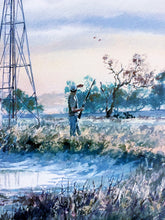 Load image into Gallery viewer, Chance Yarbrough - Windmill Wingshoot - Framed GiClee - GiClee Size 15 x 22 - Frame Size - 25 x 32 - Dove Hunting