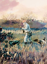 Load image into Gallery viewer, Chance Yarbrough - Tribute To Herb - Framed GiClee - GiClee Size 15 x 22 - Quail Hunting Scene