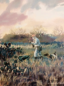 Chance Yarbrough - Tribute To Herb - Framed GiClee - GiClee Size 15 x 22 - Quail Hunting Scene