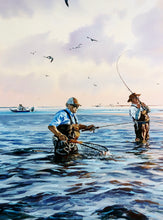 Load image into Gallery viewer, Chance Yarbrough - What A Day Artist Proof - Framed GiClee - GiClee Size 22 x 30 - Frame Size 32 x 40 - Speck Fishing Scene