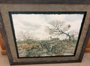 Chance Yarbrough - Pit Blind Booner - Framed Original - Image 22 x 30 - Frame 34 x 42