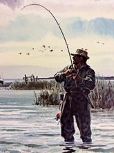 Load image into Gallery viewer, John P. Cowan - Blindside - Framed Lithograph - Frame 30.5 x 37 - Fishing Reds - 1`992