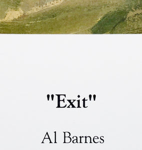 Al Barnes - Exit - Framed Lithograph - Print Size 25 x 31 - Frame Size 34 x 39 - Coastal Wade Fishing