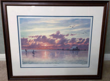 Load image into Gallery viewer, Herb Booth - Laguna - Framed Lithograph - Image Size 20 x 24 - Frame Size 27 x 31 - Coastal Fishing Scene