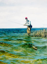 Load image into Gallery viewer, John Dearman - Red Drum Roll - Framed Lithograph -  Wade Fishing Reds