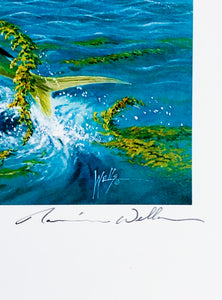 Ronnie Wells - 1992 CCA Coastal Conservation Association Stamp Print and Stamp - Framed Stamp Print - Dorado