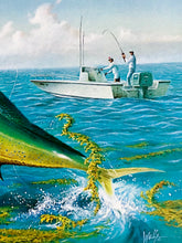 Load image into Gallery viewer, Ronnie Wells - 1992 CCA Coastal Conservation Association Stamp Print and Stamp - Framed Stamp Print - Dorado