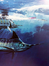 Load image into Gallery viewer, Al Barnes - Double Play - Framed Lithograph - Print Size 24.5 x 28.5 - Frame Size 32 x 38 - Marlin