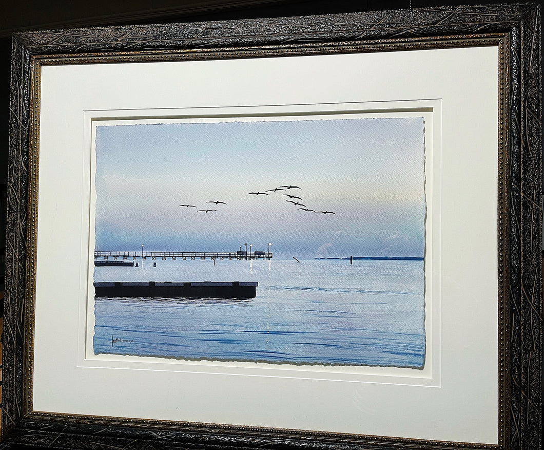 Les McDonald - Dawns Early Flight - Framed Original - Frame 28H x 35.5L - Mint Condition - Brand New Sporting Frame
