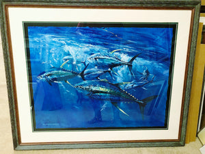 Chance Yarbrough - Epic - Framed GiClee - GiClee Size 22 x 30 - Frame Size 31 x 38 - Yellowfin Tuna