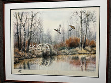 Load image into Gallery viewer, Herb Booth - Mill Pond Mallards Artist Proof w Remarque - Framed Lithograph - Frame Dimensions 32H x 38L - Mint Condition