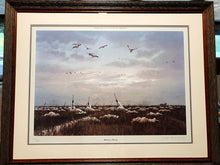 "Load image into Gallery viewer, John Dearman ""Hunters Prairie"" Published 1986 - Coastal Conservation Association CCA  in an Artist Proof  - Rare Piece - Brand New Custom Sporting Frame"