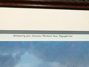 "John Dearman ""Hunters Prairie"" Published 1986 - Coastal Conservation Association CCA  in an Artist Proof  - Rare Piece - Brand New Custom Sporting Frame"