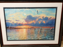 Load image into Gallery viewer, Herb Booth - Sunrise Shore Reds - Framed GiClee - GiClee Size 20 x 30 - Frame Size 30 x 40 - Redfishing Scene
