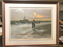 Load image into Gallery viewer, John P. Cowan - Sweet Wreck - Framed Lithograph - Frame 31 x 37.5 - 1981 - Surf Fishing Reds