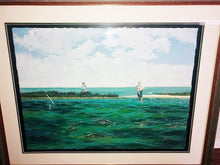 Load image into Gallery viewer, John Dearman - Pringle - Framed GiClee - GiClee Size 22 x 30 - Frame Size 30 x 40 - Wade Fishing Scene