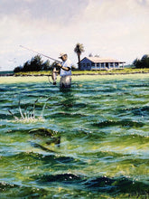 Load image into Gallery viewer, John Dearman - Trout 2005 - Framed GiClee - Size 15 x 22 -  Wade Fishing for Speckled Trout