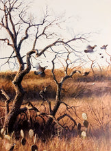 Load image into Gallery viewer, John Dearman - Deadwood Covey w Quail Remarque Number 1 of 800 Year 1999 - Framed Lithograph - Size 25 x 31 - Mint Condition