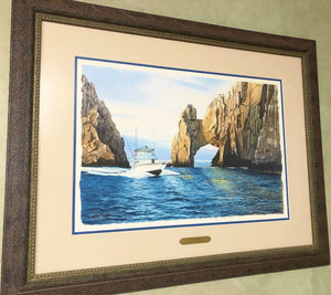 Les McDonald - Fishing Cabo - Framed Original - Image 15 x 22 - Frame 27 x 35 - Mint Condition