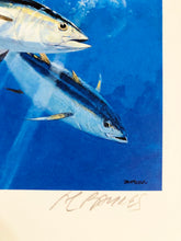 Load image into Gallery viewer, Al Barnes - 1997 CCA Stamp Print and Stamp - Framed Stamp Print - Print Size 12.5 x 14 - Framed Size 18 x 18.5 - Yellowfin Tuna