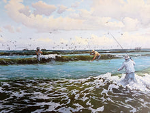 Load image into Gallery viewer, David Drinkard - The Pocket - Framed Lithograph - Print Size 25 x 32 - Frame Size 34 x 40 - Mint Condition - Wade Fishing