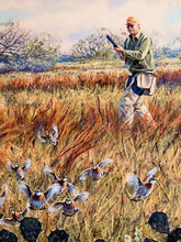 Load image into Gallery viewer, Herb Booth - On The Rise - Framed GiClee -GiClee Size 20 x 30 - Frame Size 30 x 40 - Quail Hunting Scene
