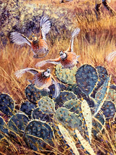 Load image into Gallery viewer, Herb Booth - Out The Side Door - Framed GiClee - GiClee Size 20 x 30 - Frame Size 30 x 40 - Quail Hunting Scene
