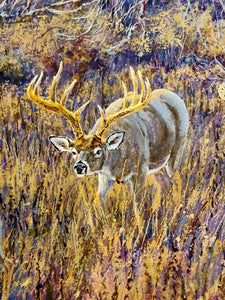 Herb Booth - Silent Salutations - Framed GiClee - GiClee Size 20 x 30 - Frame Size 30 x 40 - Whitetail Bow Hunting Scene