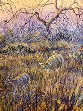 Load image into Gallery viewer, Herb Booth - Silent Salutations - Framed GiClee - GiClee Size 20 x 30 - Frame Size 30 x 40 - Whitetail Bow Hunting Scene