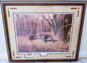 James H. Killen - The Wary Ones - Framed Lithograph - With Remarque - Frame Size 31 x 40