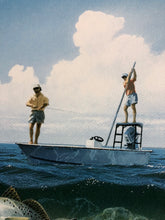 Load image into Gallery viewer, John Dearman - Ambushed - Framed GiClee - GiClee Size 15 x 22 - Frame Size 25.5 x 32 - Speckled Trout