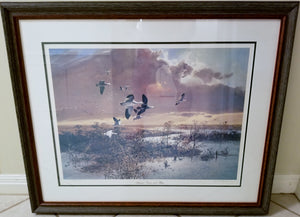 John P. Cowan - Autumn Snows and Blues - Framed Lithograph - Frame 30.5 x 37 - Mint Condition