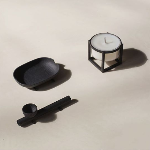 Love + Destroy Cross Bar Ashtray Matte Black | Hemlock Rose