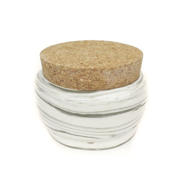 Hemlock Rose | Awesome Fortress Ceramic White Marble Stash Jar and Ashtray