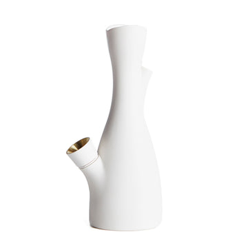 Castor Voong White Bong Water Pipe | Hemlock Rose