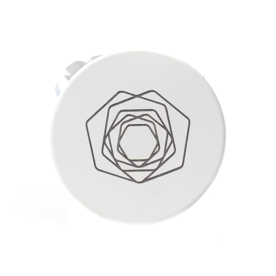 The Blanche Matte White Herb Plant Grinder | Hemlock Rose