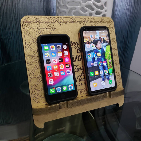 Dual custom phone holder for couples