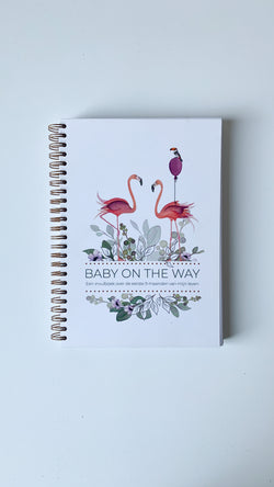Invulboek 'Baby on the Way' spiraalbinding - Flamingo