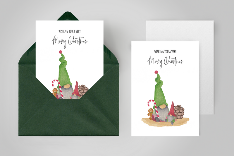 Kerstkaarten set 20 stuks – Mix 'Santa's little helpers' en 'Christmas Cheers'