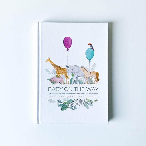 Invulboek 'Baby on the way' - Safari